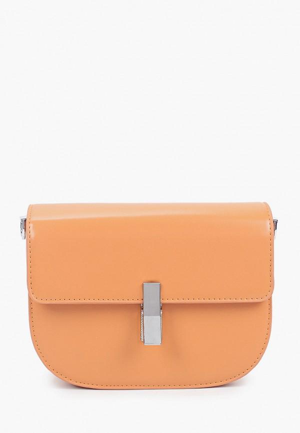 женская сумка через плечо dispacci, оранжевая