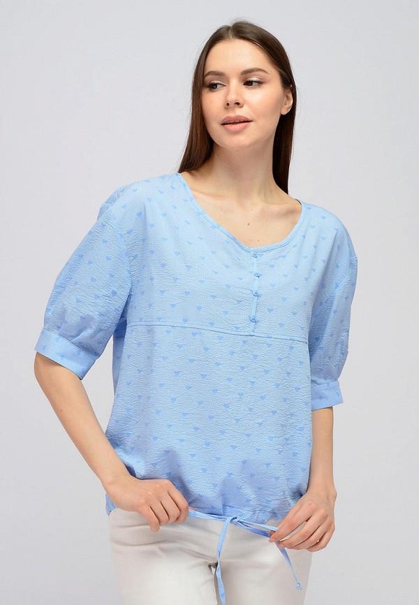 женская блузка с коротким рукавом viserdi, голубая