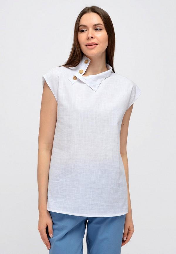 женская блузка с коротким рукавом viserdi, белая