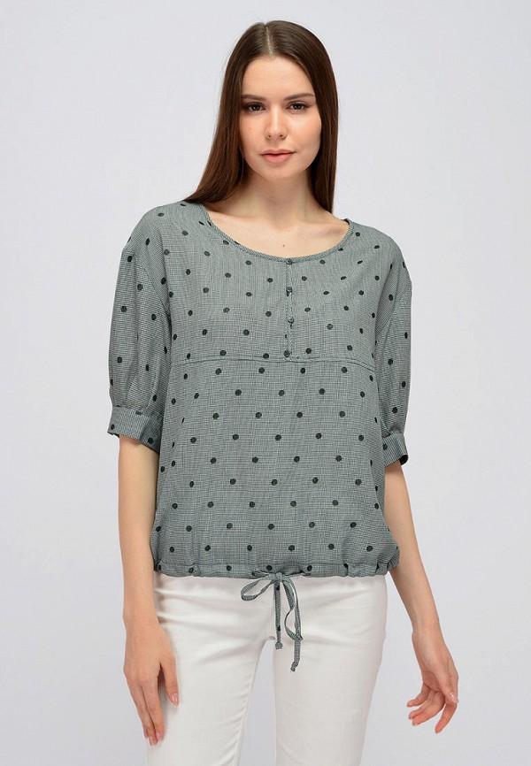 женская блузка с коротким рукавом viserdi, хаки