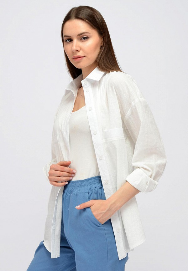 женская блузка с длинным рукавом viserdi, белая