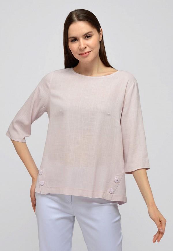 женская блузка с длинным рукавом viserdi, розовая