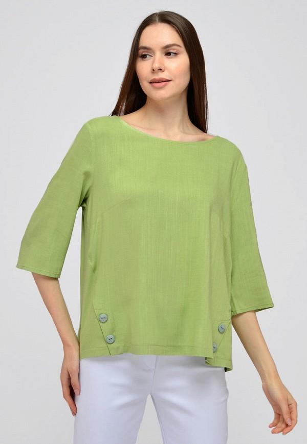 женская блузка с длинным рукавом viserdi, зеленая