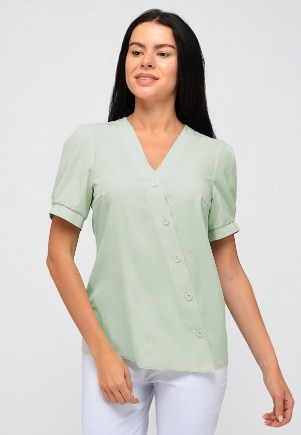 женская блузка с коротким рукавом viserdi, зеленая