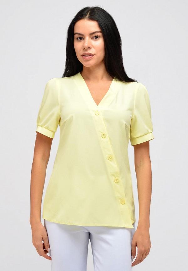 женская блузка с коротким рукавом viserdi, желтая