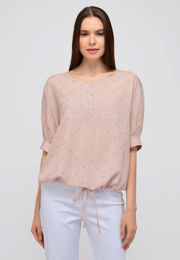 женская блузка с коротким рукавом viserdi, розовая