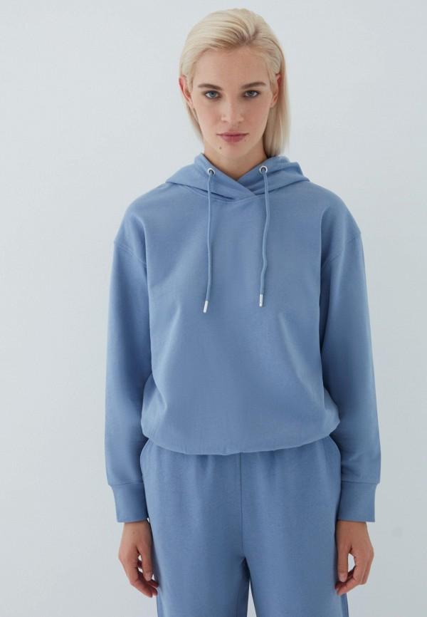 женские худи zarina, синие