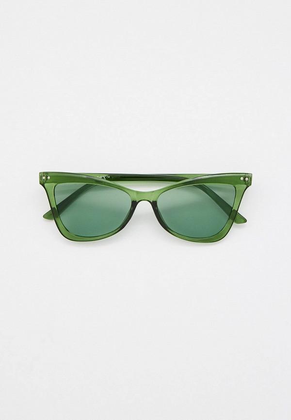 женские солнцезащитные очки кошачьи глаза bradex, зеленые