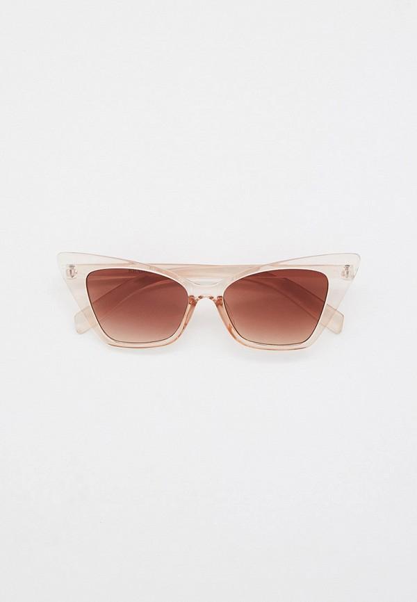 женские солнцезащитные очки кошачьи глаза bradex, бежевые