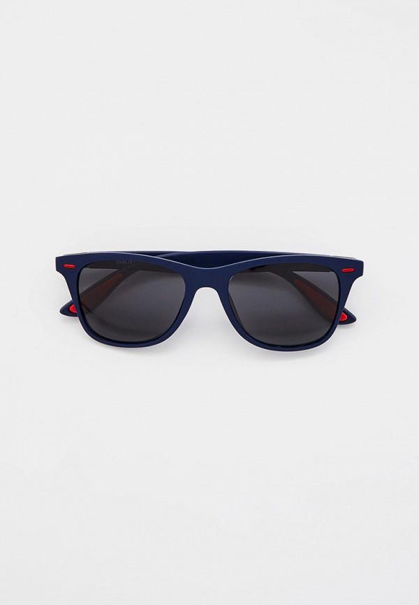 женские квадратные солнцезащитные очки bradex, синие