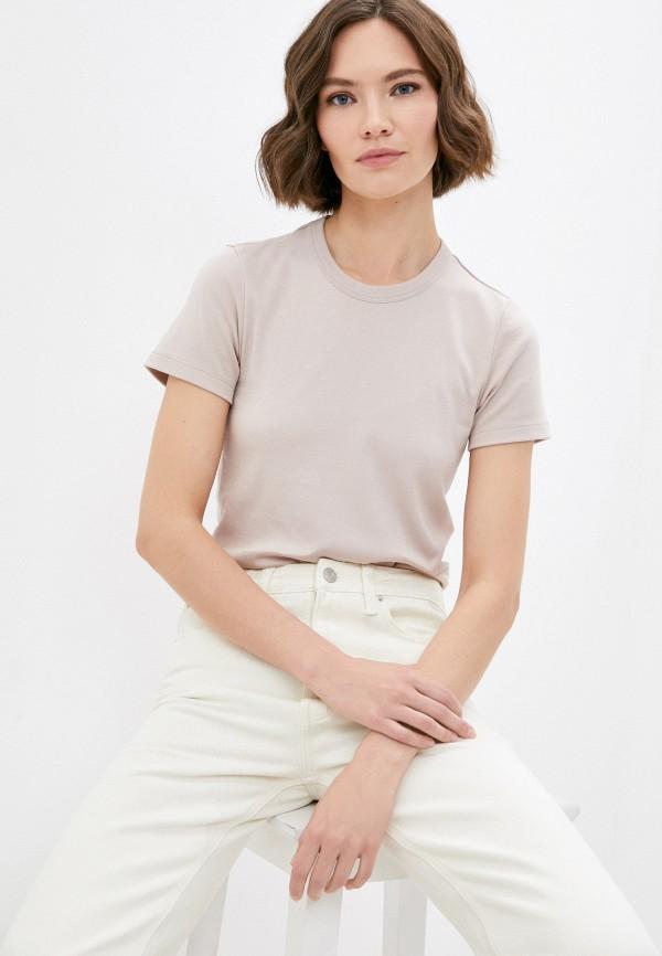 женская футболка mark formelle, бежевая