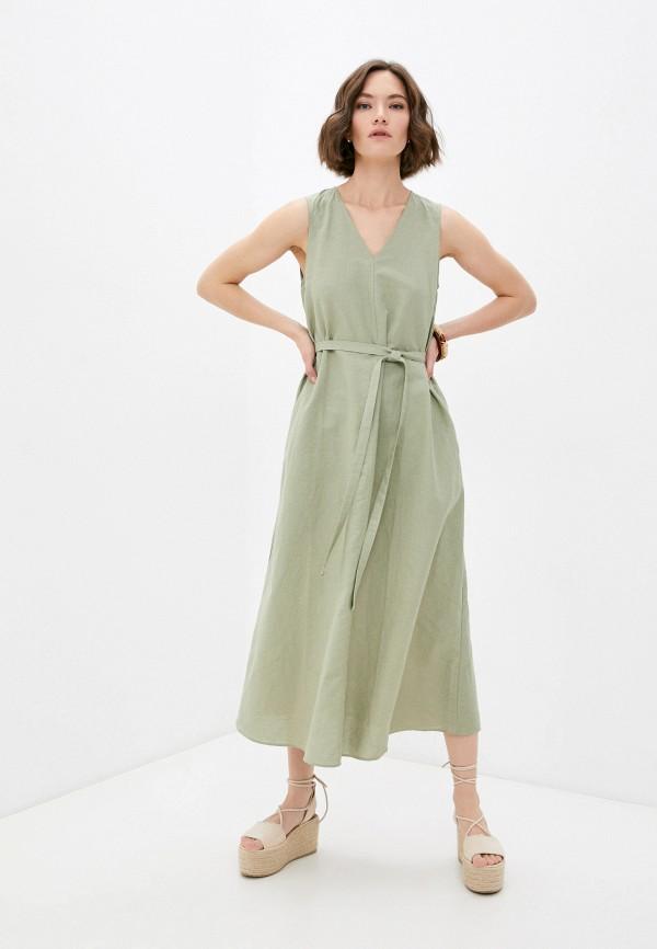 женское повседневные платье mark formelle, хаки