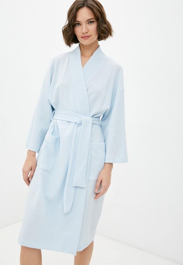 женский халат mark formelle, голубой