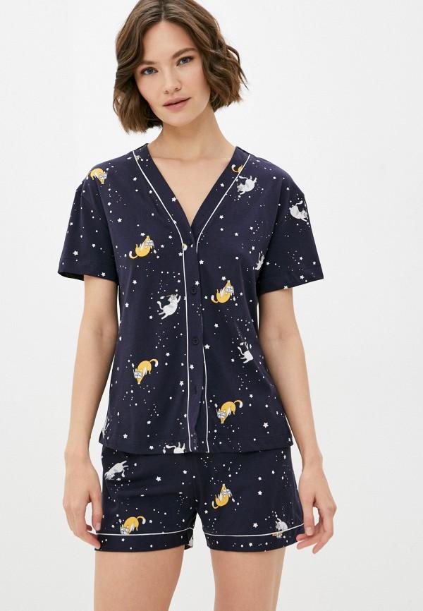 женская пижама mark formelle, синяя