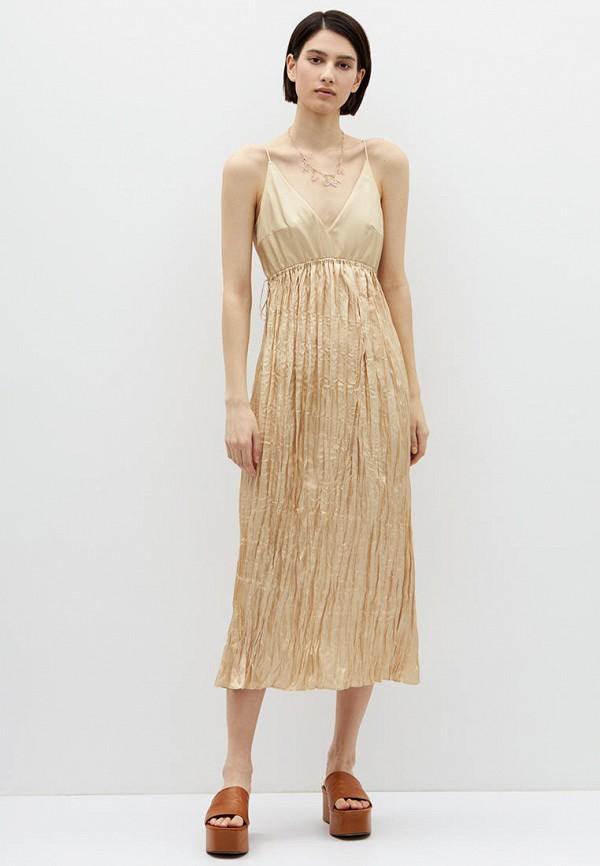 женское вечерние платье lime, золотое