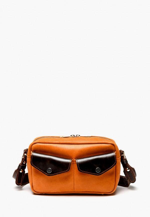 женская сумка через плечо igermann, оранжевая