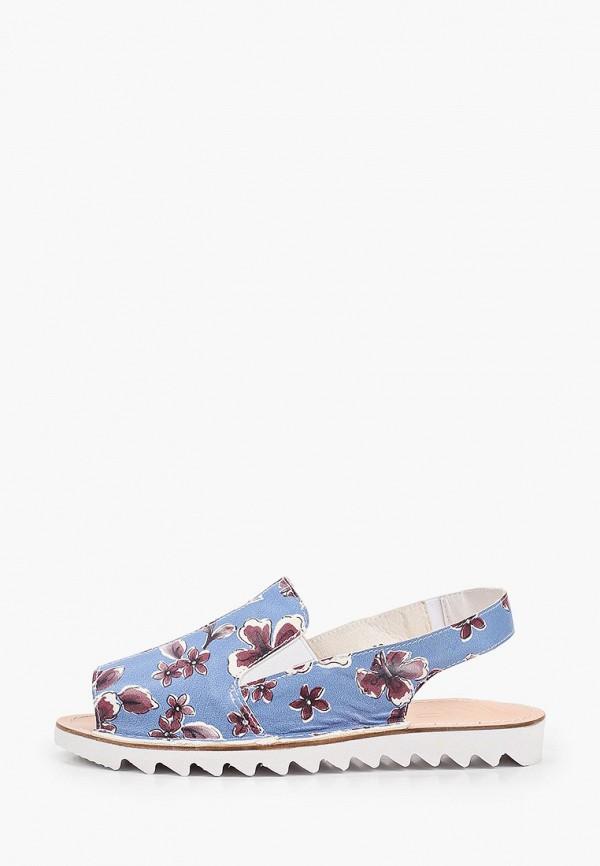 женские сандалии makfly, голубые