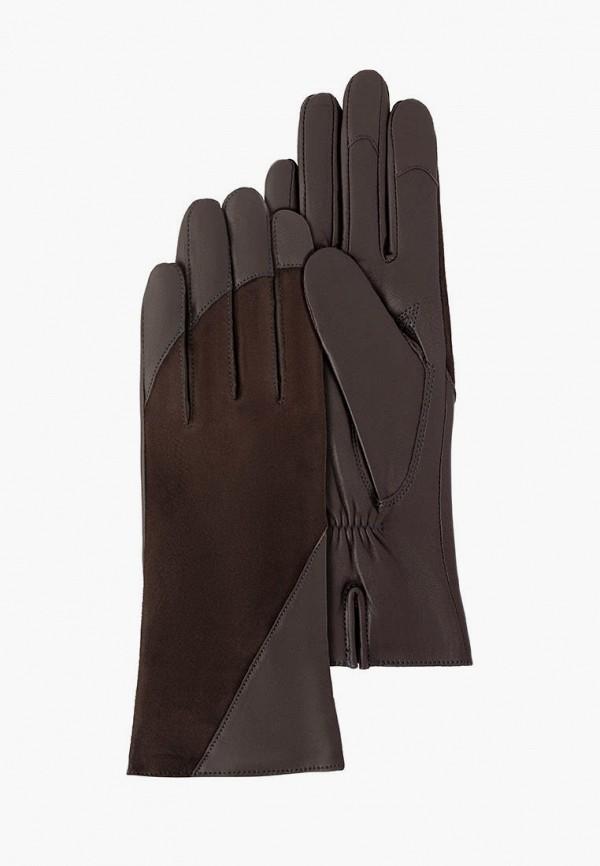 женские кожаные перчатки michel katana, коричневые