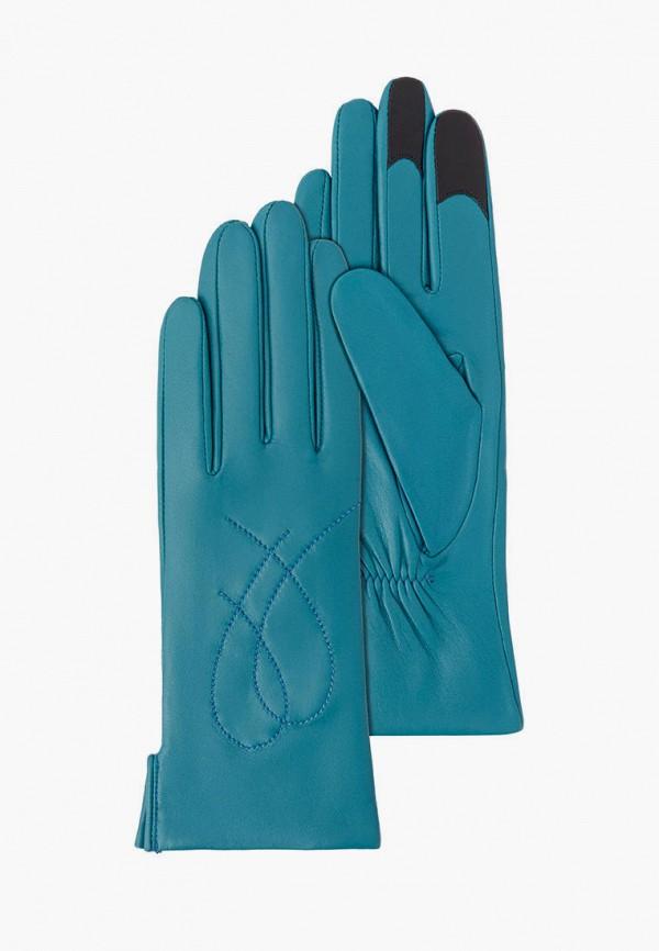 женские перчатки michel katana, бирюзовые