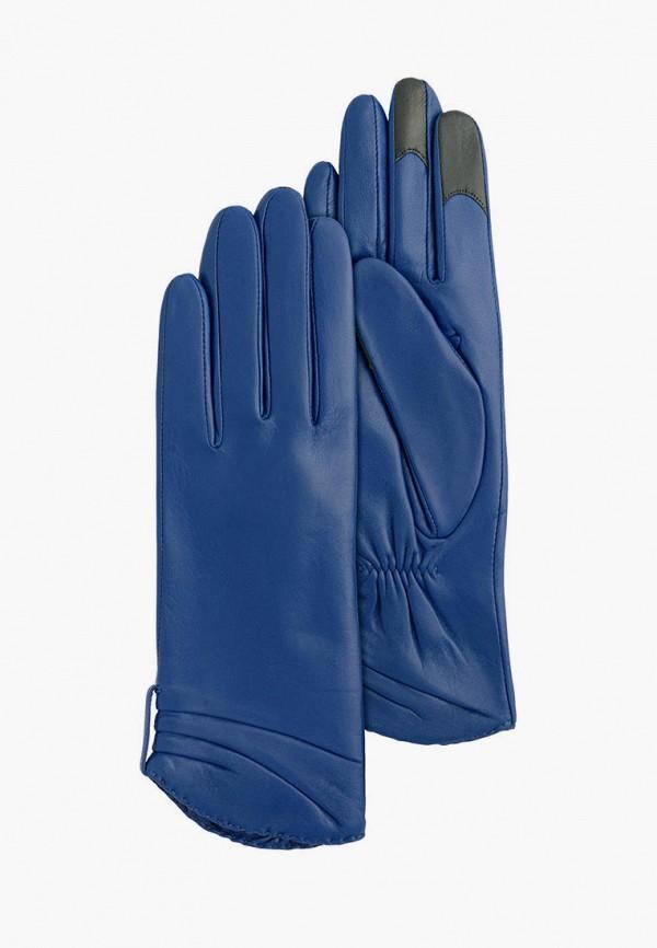 женские кожаные перчатки michel katana, синие