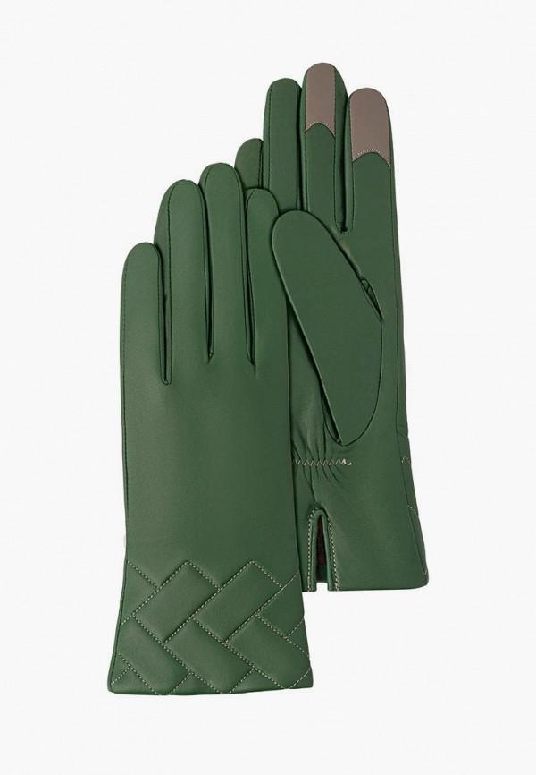 женские кожаные перчатки michel katana, зеленые