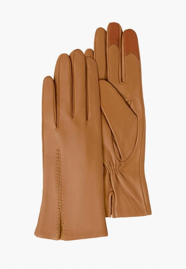 женские кожаные перчатки michel katana, бежевые