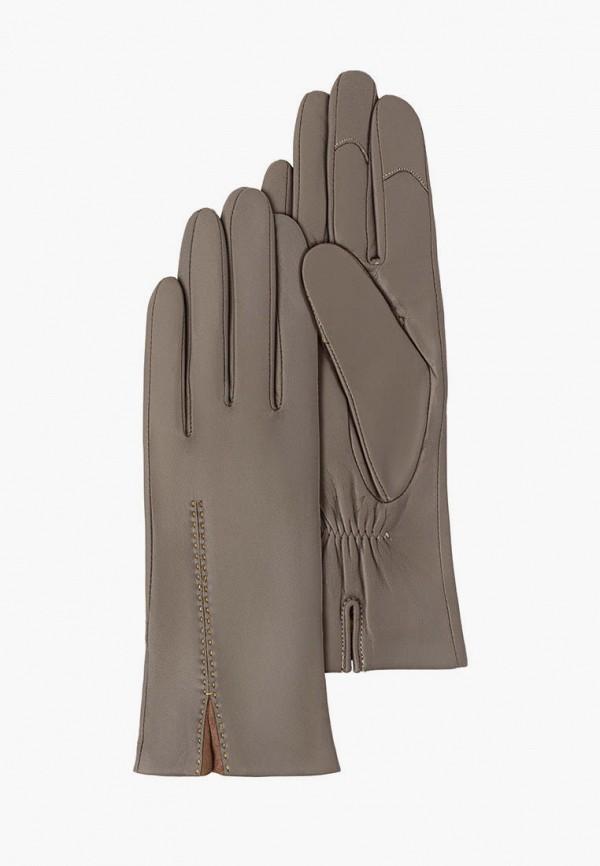 женские кожаные перчатки michel katana, серые