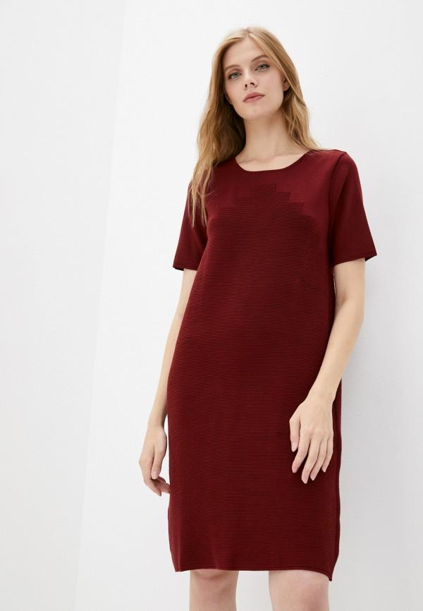 женское повседневные платье vera moni, бордовое