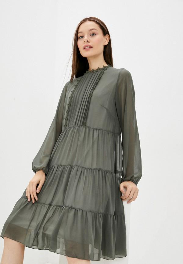 женское повседневные платье vera moni, хаки