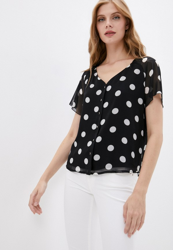 женская блузка с коротким рукавом salko, черная