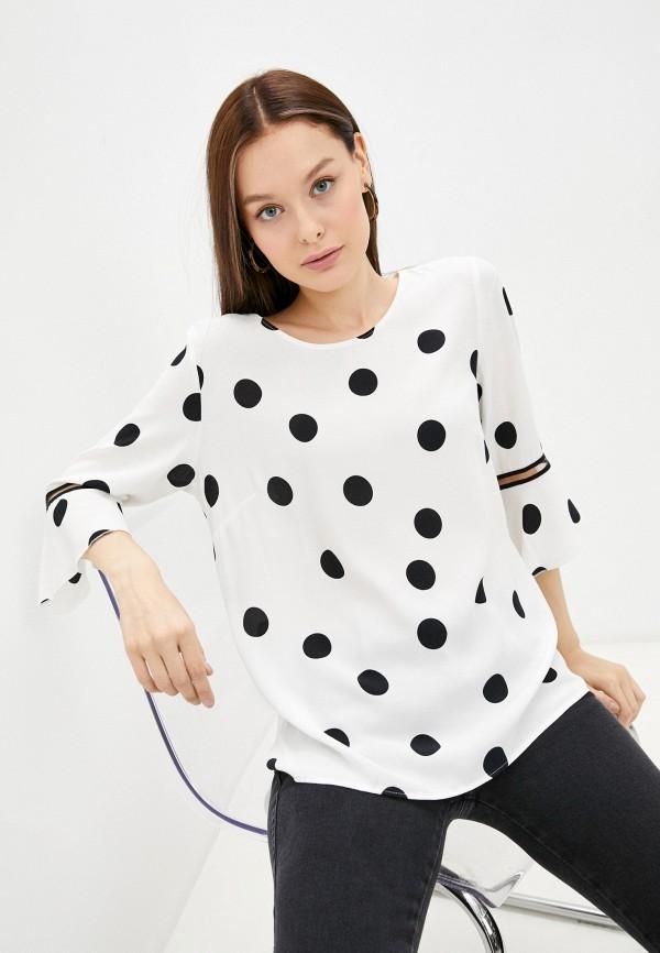 женская блузка с длинным рукавом salko, белая