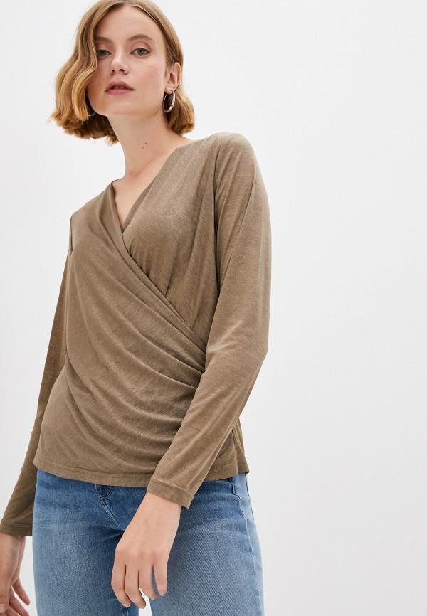 женская блузка с длинным рукавом salko, коричневая