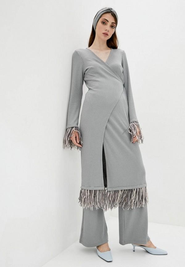 женский костюм iren klairie, серый