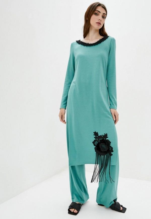 женский костюм iren klairie, бирюзовый