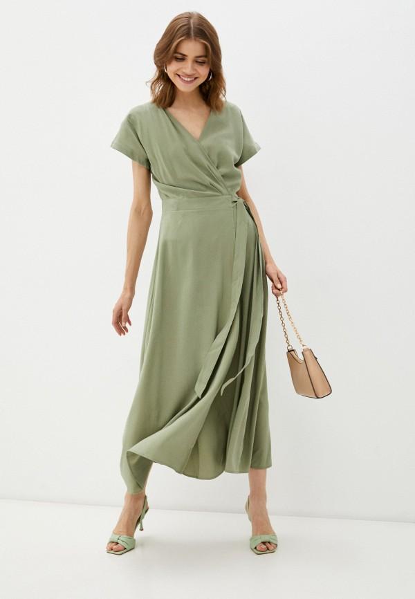 женское платье с запахом incity, хаки
