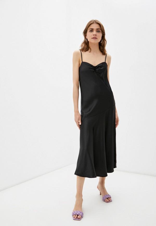 женское платье-комбинация incity, черное