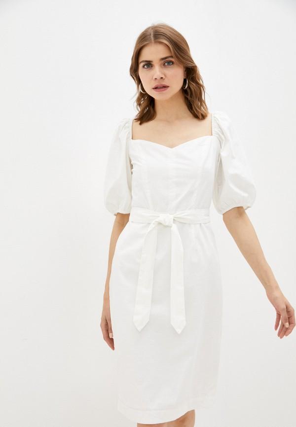 женское платье-футляр incity, белое