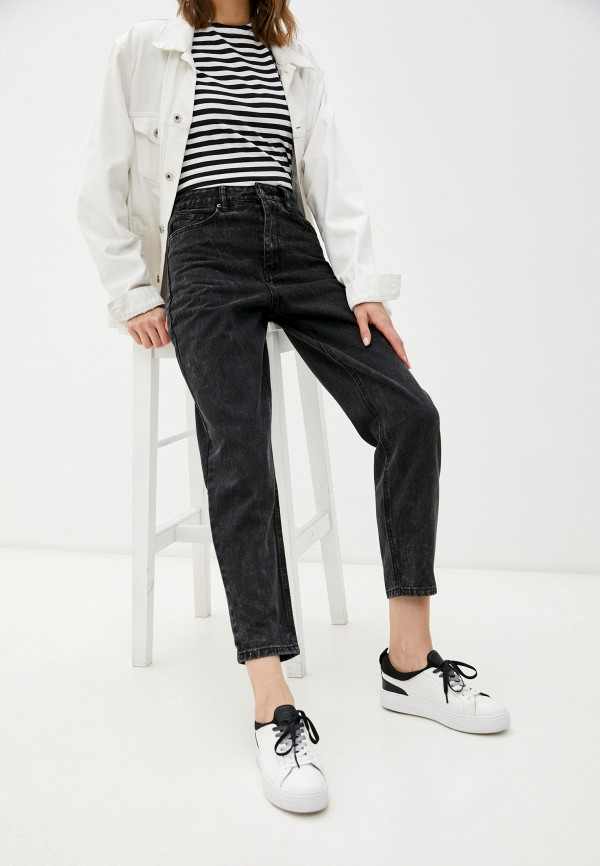 женские джинсы-мом incity, черные