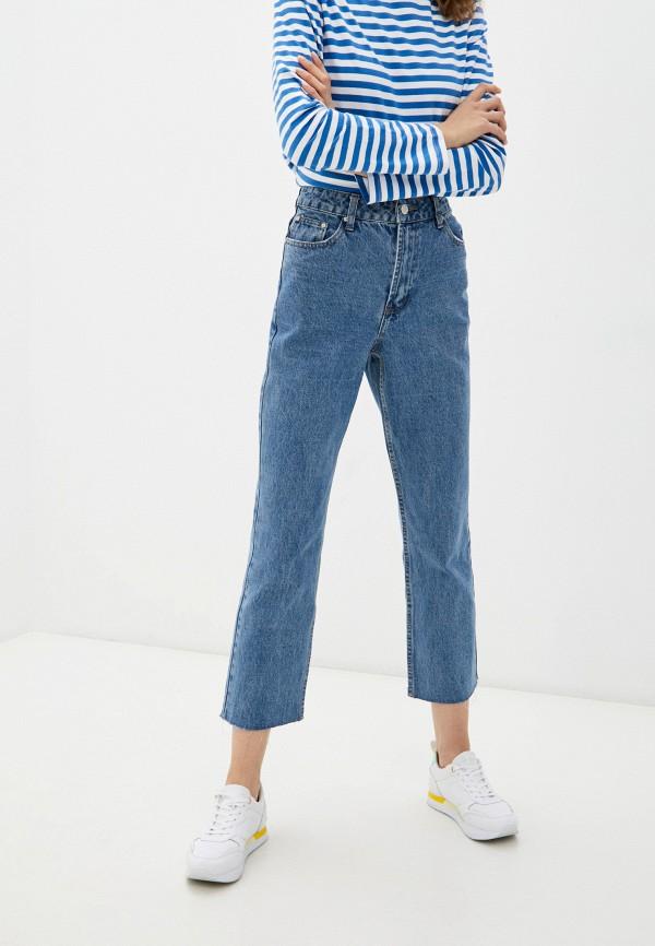 женские прямые джинсы incity, синие