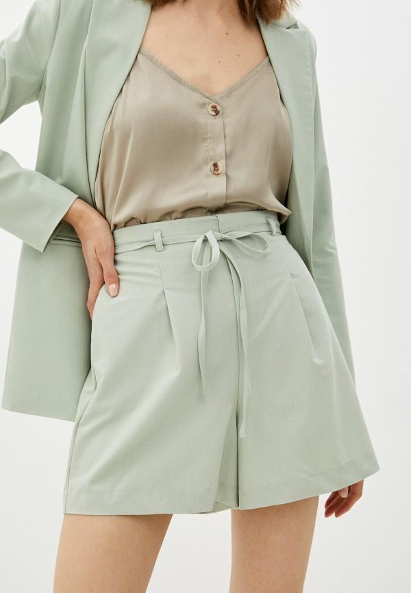 женские повседневные шорты incity, бирюзовые