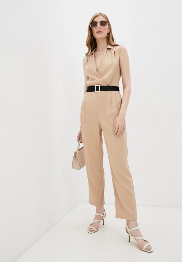 женский комбинезон с брюками incity, бежевый