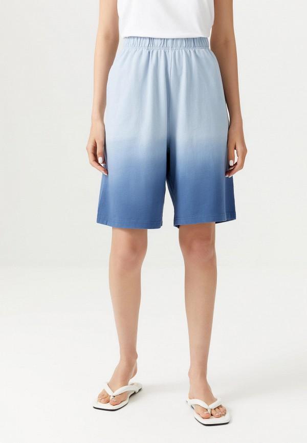 женские повседневные шорты sela, голубые