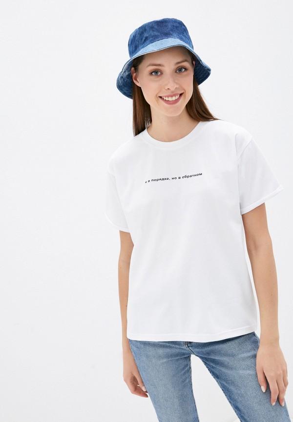 женская футболка young&beautiful, белая