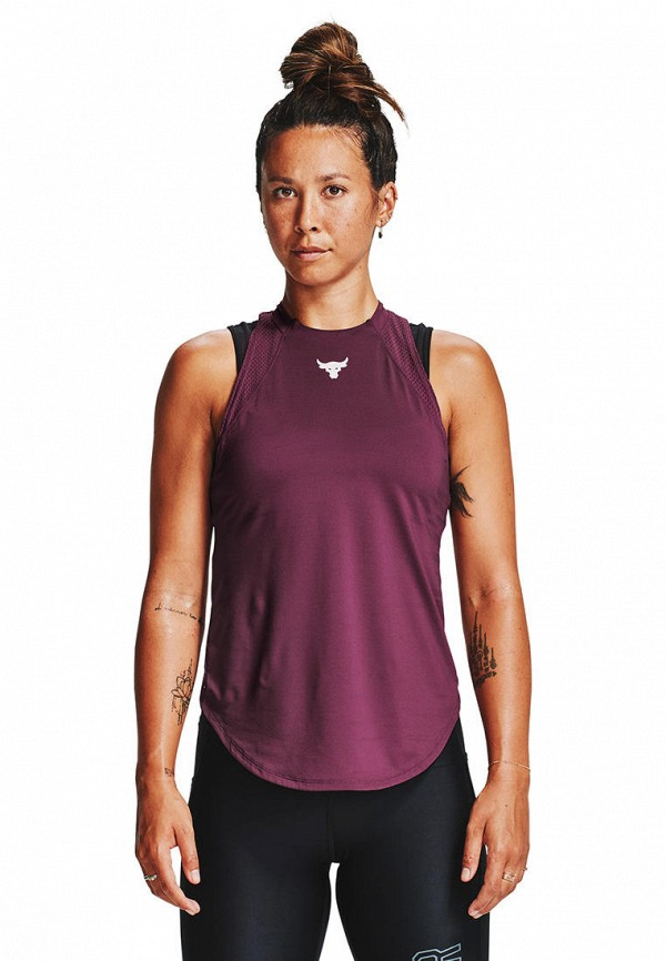 женская спортивные майка under armour, фиолетовая