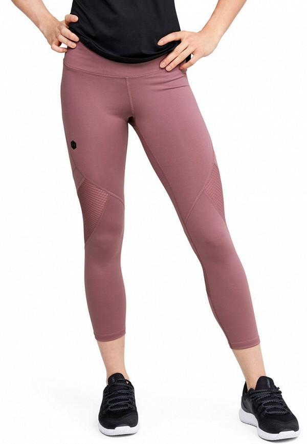 женские спортивные леггинсы under armour, фиолетовые