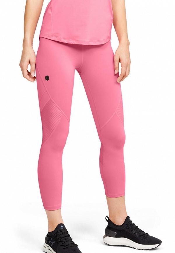 женские спортивные леггинсы under armour, розовые