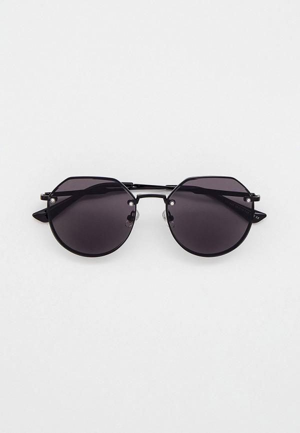 женские круглые солнцезащитные очки ruxara, черные