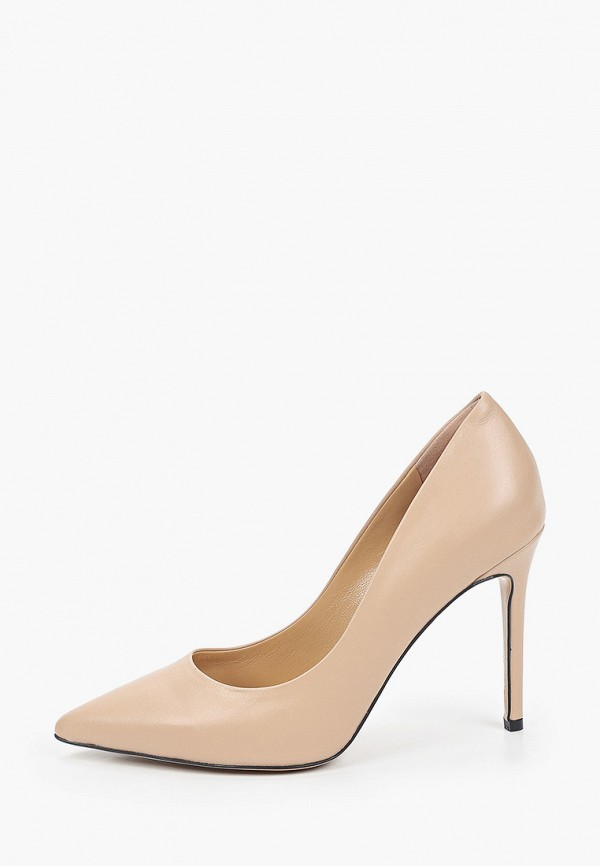 женские туфли-лодочки grand style, бежевые