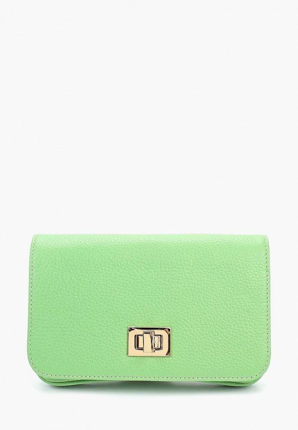 женская сумка через плечо d.angeny, зеленая