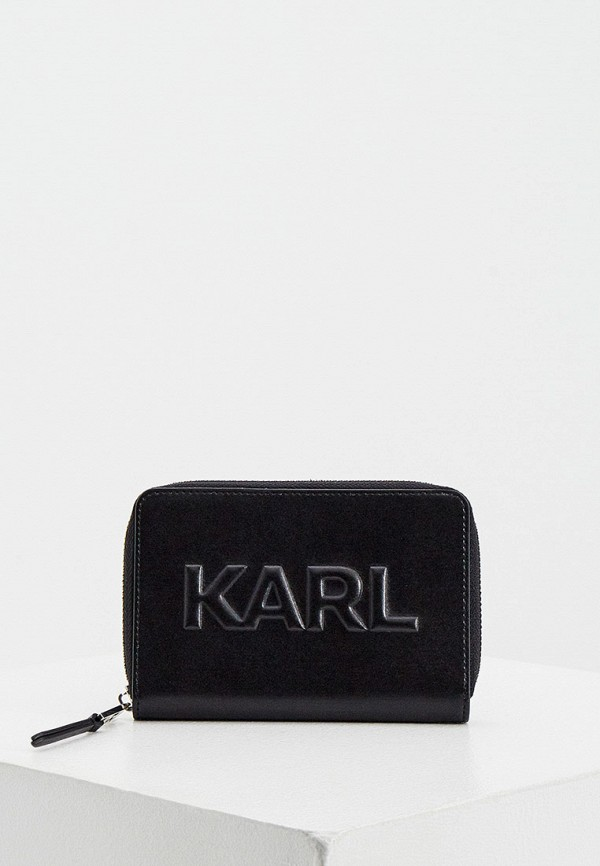 женский кошелёк karl lagerfeld, черный